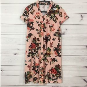 Reb & J Reborn J Pink Floral Choker Pocket Dress